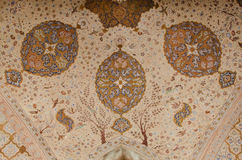 Floral ceiling. Ceiling of an old persian palace Royalty Free Stock Photos