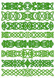 Floral celtic borders with traditional ornament Stock Image