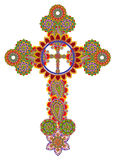 Floral Celtic cross Royalty Free Stock Image