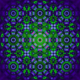Floral centered ornament purple green violet blurred Royalty Free Stock Photography