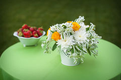 Floral Centerpiece at Wedding Reception Royalty Free Stock Images