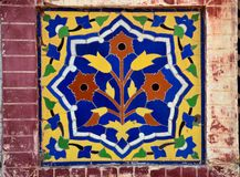 Floral Ceramic Mosaic From Mosque Royalty Free Stock Photo
