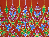Floral ceramic pattern in Thai style Royalty Free Stock Image
