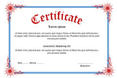 Floral Certificate Royalty Free Stock Image