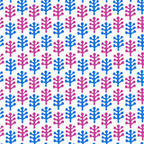 Floral childish drawn seamless texture. Pattern with decorative leafs Royalty Free Stock Photo