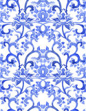 Floral chinese ornamental repeating pattern Royalty Free Stock Image
