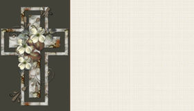 Floral Christian Cross Background 5 royalty free stock image