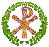 Floral christian symbol of Christ Stock Images