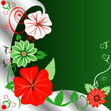 Floral Christmas Background Stock Photo