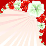 Floral Christmas Background 3 Royalty Free Stock Photo