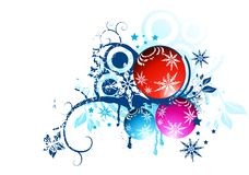 Floral Christmas Balls Royalty Free Stock Photography
