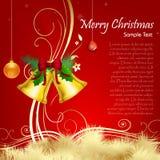 Floral christmas card vector illustration