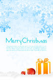 Floral christmas card. Illustration of floral christmas card on white background Stock Images