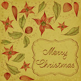 Floral Christmas Card Stock Photo