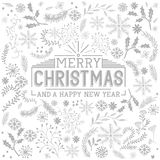 Floral Christmas Elements Royalty Free Stock Images