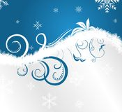 Floral Christmas Frame Royalty Free Stock Images