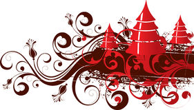 Floral Christmas illustration Royalty Free Stock Images