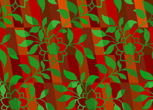 Floral Christmas pattern seamless Stock Photos