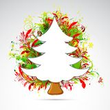 Floral Christmas Tree Stock Photography