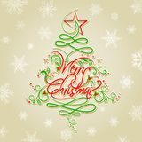 Floral Christmas Tree. Easy to edit vector illustration of Floral Christmas Tree Stock Images