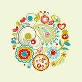 Floral circle Royalty Free Stock Image
