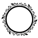 Floral circle. Abstract vector illustration Stock Photos