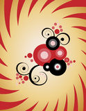 Floral circle abstraction. Royalty Free Stock Images