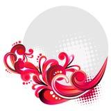 Floral circle design vector illustration