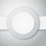 Floral circle frame. Royalty Free Stock Image