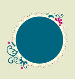 Floral circle frame Royalty Free Stock Photo