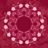Floral Circle Ornament Royalty Free Stock Photos