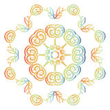 Floral circle pattern Royalty Free Stock Photo