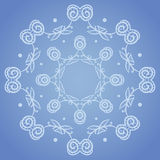 Floral circle pattern Royalty Free Stock Image