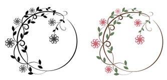 Floral circular border Stock Photo