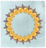 Floral circular frame with paper background Stock Images