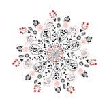 Floral circular pattern Royalty Free Stock Image