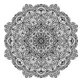Floral circular pattern mandala for coloring page outline  illustration Stock Photos