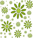 Floral circular wallpaper pattern. Floral pattern in green. geometric floral wallpaper in an olive green. repetitive pattern useful for textiles and backdrops or Stock Photo