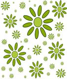 Floral circular wallpaper pattern. Floral green pattern with plain background. Repetitve ornamental pattern for wallpaers, bacgrounds and fulls Stock Photo