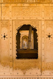 Floral classical Rajasthan ornament and arches Stock Photography