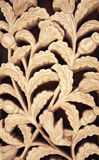 Floral clay carving sienna pattern ornament. Flower wall decoration Royalty Free Stock Photos
