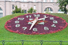 Floral clock Royalty Free Stock Photography