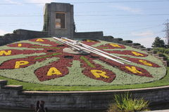 Floral Clock NFO Royalty Free Stock Images
