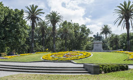 Floral Clock, Queen Victoria Gardens, Melbourne, Australia. Royalty Free Stock Image