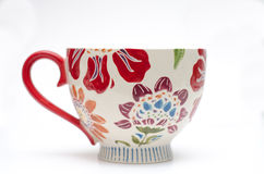 Floral Coffee Cup Stock Photography