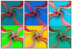Floral collages. Colorful  designed floral collages background Stock Photography