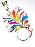 Floral coloré abstrait avec le guindineau Photos libres de droits