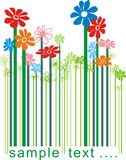 Floral color bar code. Color illustration bar code changing the flowers Royalty Free Stock Photos