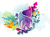 Floral color composition Stock Photos