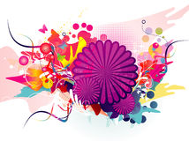 Floral color composition Royalty Free Stock Photo